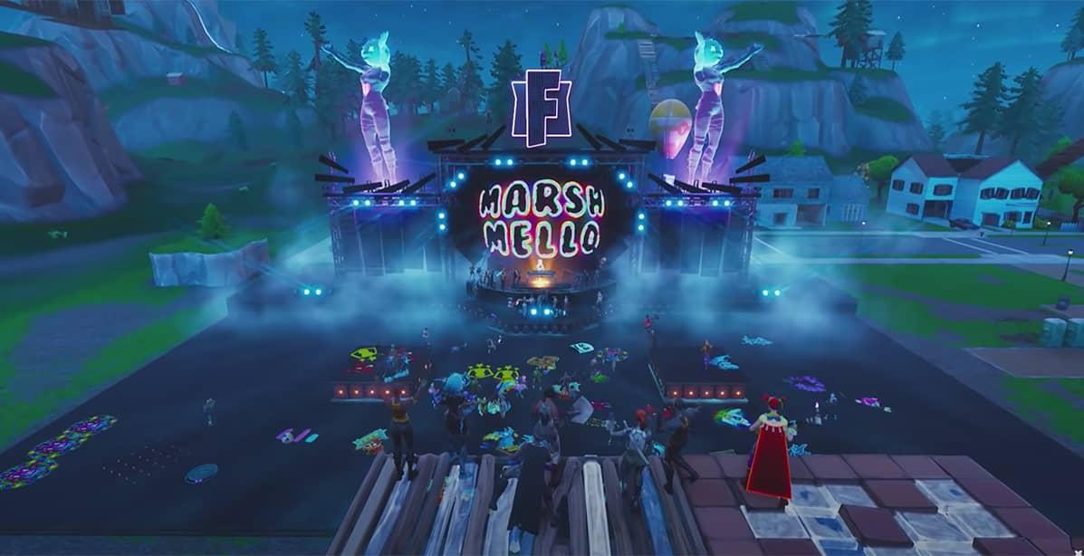 Marshmello Holds First Ever Fortnite Concert Live